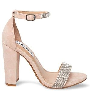 Steve Madden Neutral Heel with Rhinestones